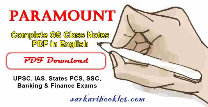 Paramount Complete GS Class Notes PDF in English