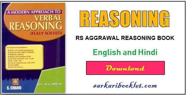 RS Aggarwal verbal Reasoning Book PDF