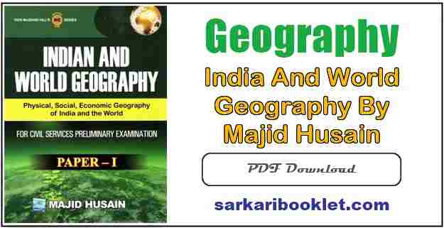 Photo of India and World Geography by Majid Husain PDF