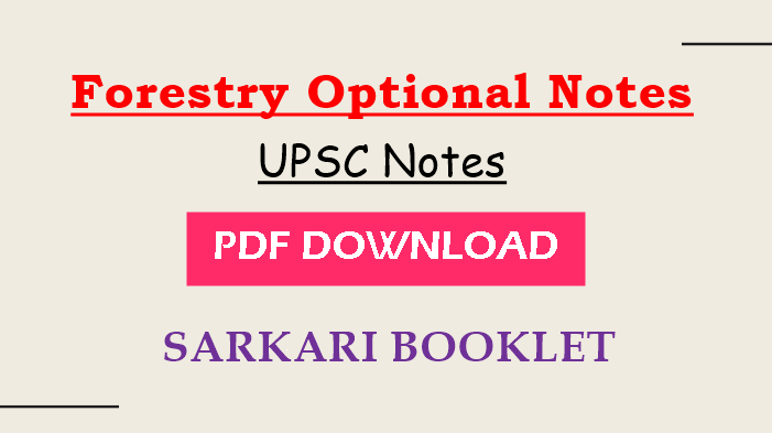 Photo of Forestry Optional Notes pdf Download